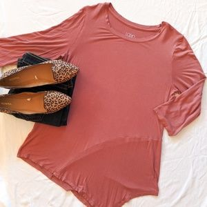 LOGO layers asymmetric pink top